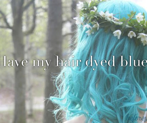 cool, dyed, and hair image