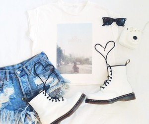 outfit, white, and beautiful image