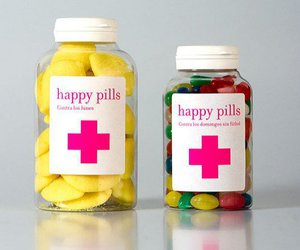 happy and pills image