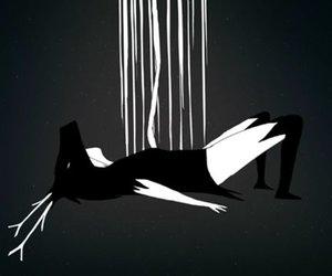 b&w, bye, and minimalism image