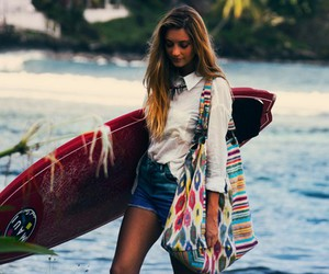 beach, clothes, and girl image