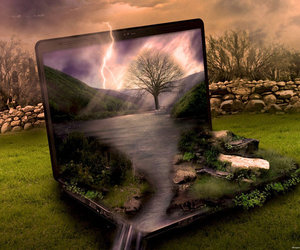 computer, nature, and weather image