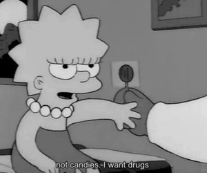 drugs, candy, and simpsons image