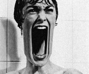 Psycho, movie, and black and white image