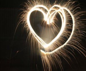 heart, sparks, and firework image
