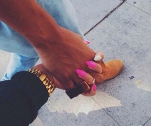 couple, love, and nails image