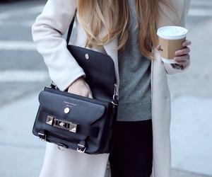 bag, coat, and beige image