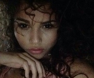 beauty, dark, and curls image