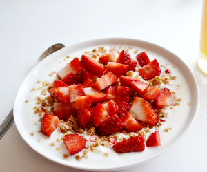 strawberry, breakfast, and food image
