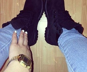 shoes, black, and timberland image