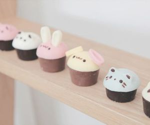 cute, cupcake, and animals image
