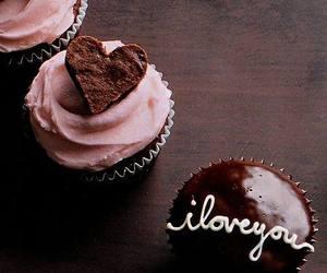cupcake, chocolate, and heart image