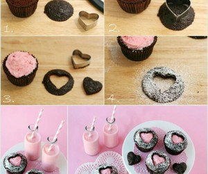 cake, cup, and heart image