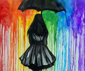 art, color, and rain image