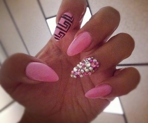 pink, nails, and perfection image