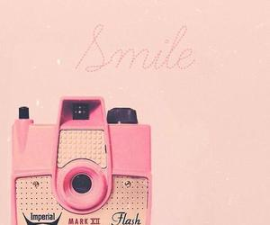 camera, smile, and pink image