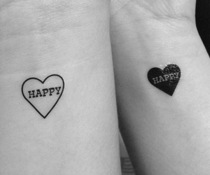 couple, happy, and heart image