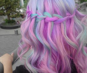 blue hair, color hair, and pastel hair image