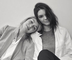 black and white, friend, and girl image