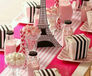 bow, eiffel, and pink image