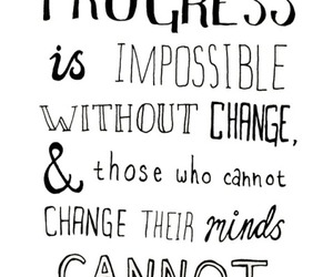 quote, change, and progress image