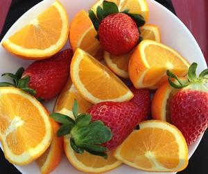fruit, orange, and strawberry image