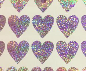hearts, sticker, and glitter image