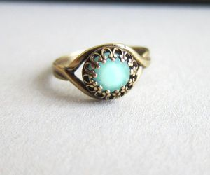 ring, blue, and turquoise image