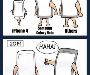 iphone, funny, and samsung image