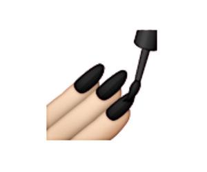 black, emoji, and nails image