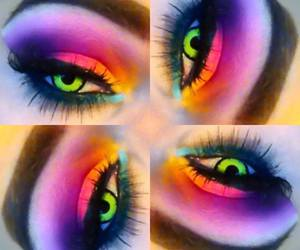 colores, maquillaje, and neon image
