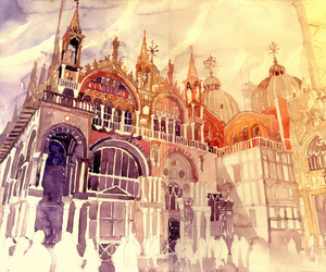 art, watercolor, and illustration image
