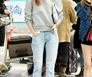 airport, fashion, and snsd image