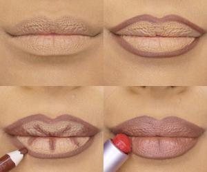 contour, girl, and makeup image