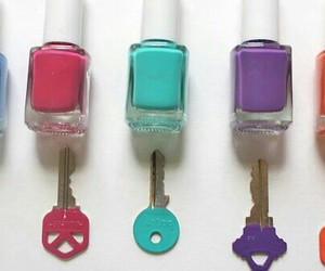 diy, key, and nail polish image