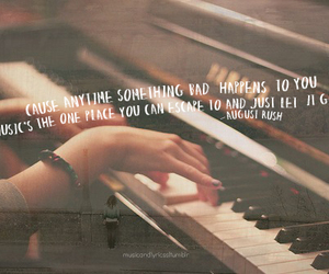 music, quote, and august rush image