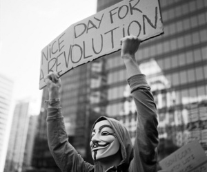 revolution, black and white, and anonymous image