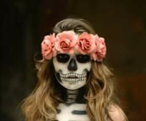 flowers, girl, and Halloween image