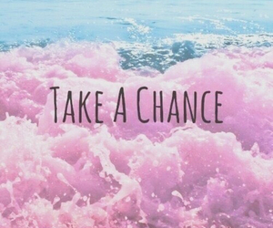 pink, chance, and sea image