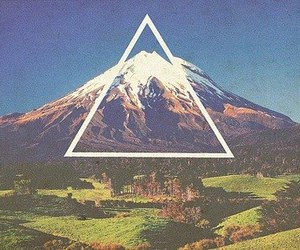 triangle, nature, and vintage image