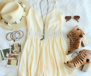 boots, dress, and sunglasses image