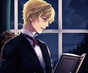 book, anime, and butler image