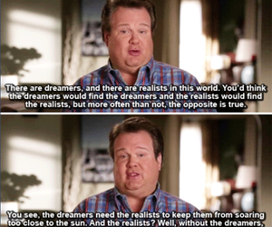 quote, dreamers, and modern family image