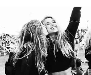 best friends, black and white, and festival image