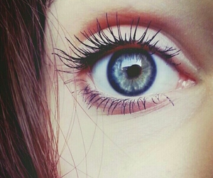 eye, beautiful, and blue image