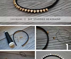 diy, tutorial, and headband image