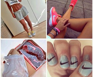 adidas, pink, and fit image