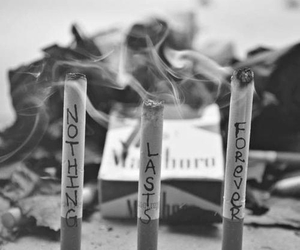 smoke, cigarette, and forever image