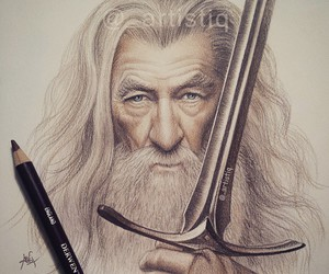 gandalf and drawing image