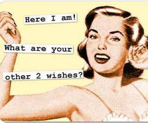 wish, funny, and retro image